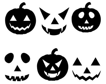 Free printable halloween pumpkin. 2017 clipart black and white