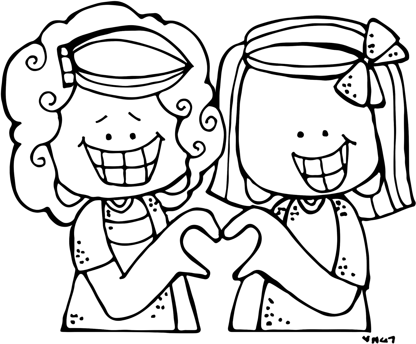 Mittens clipart black and white. Melonheadz love everyone free