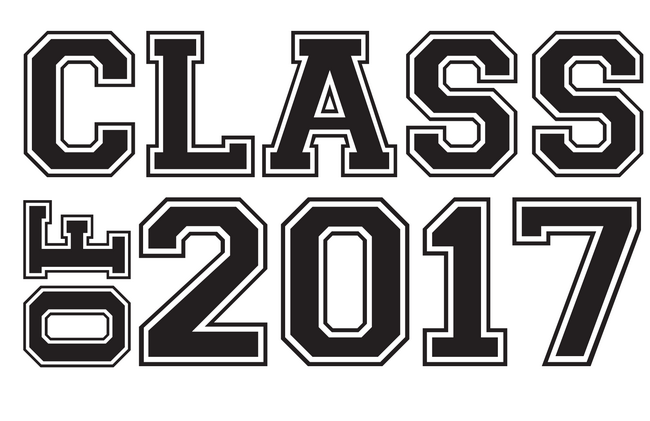 2017 clipart black and white. Graduation class of clip