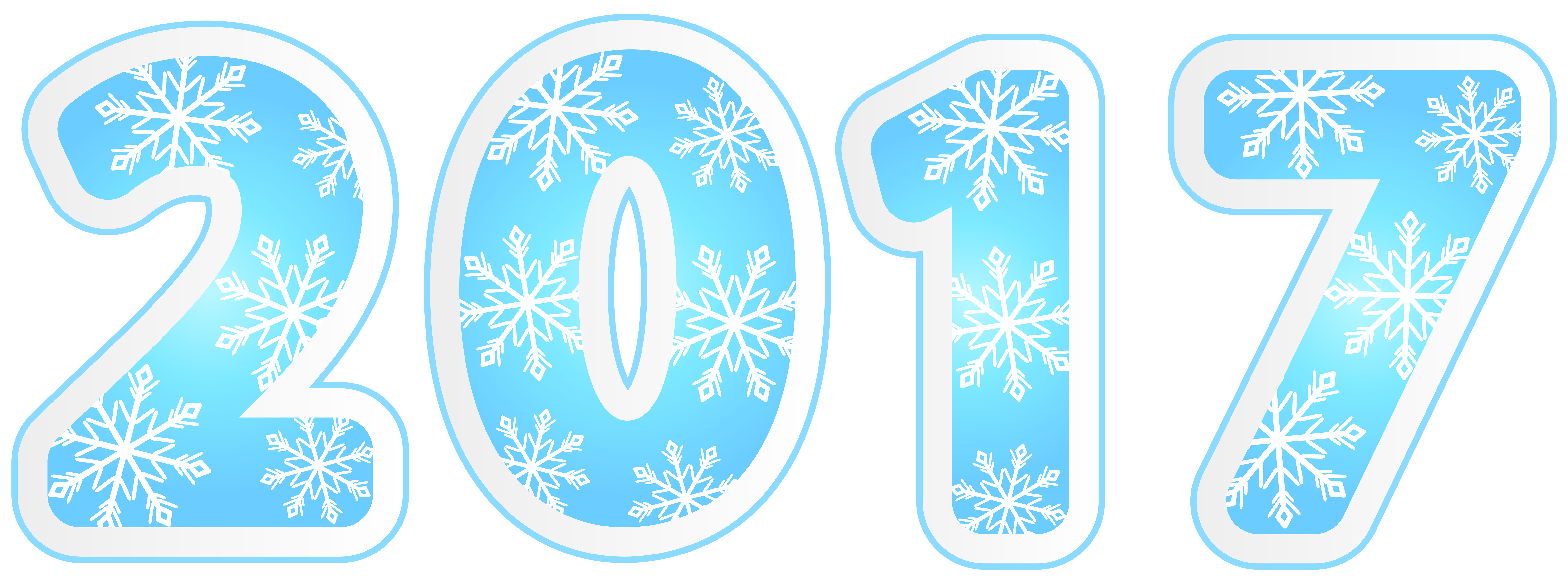 with snowflakes png. 2017 clipart blue
