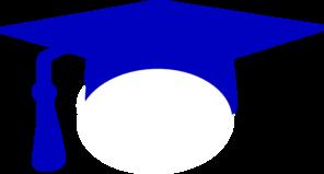 Royal graduation cap clip. 2017 clipart blue