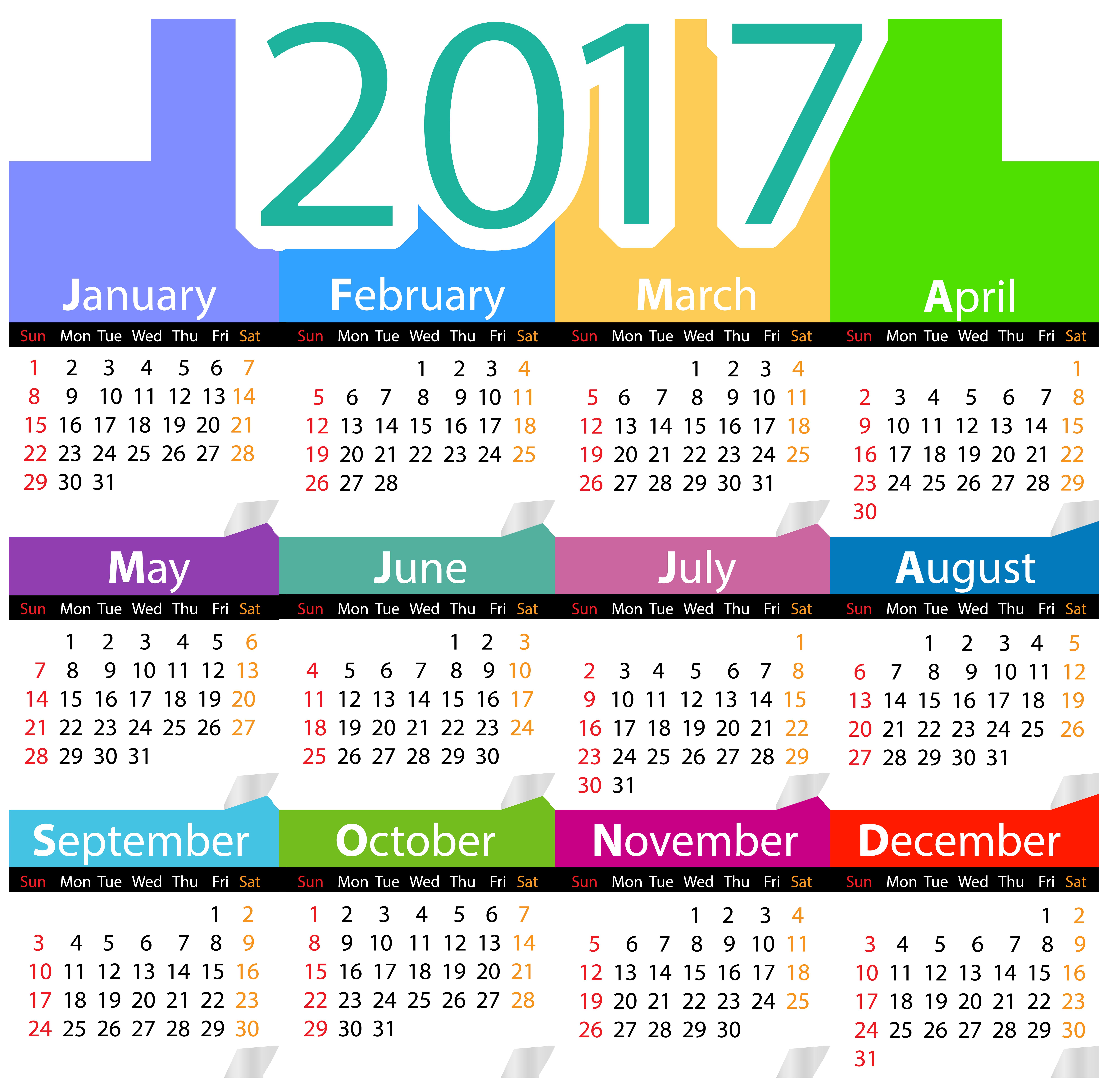 png clip art. 2017 clipart calendar