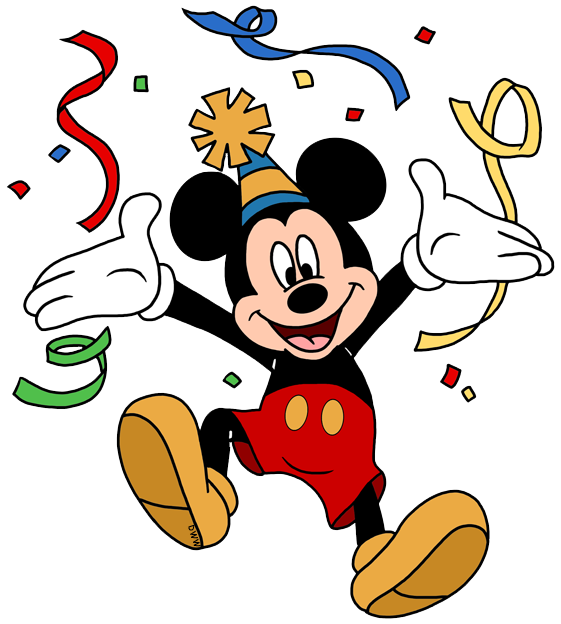 Disney birthdays and parties. 2017 clipart celebration
