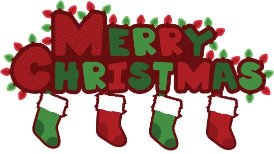 Merry stockings clip art. 2017 clipart christmas