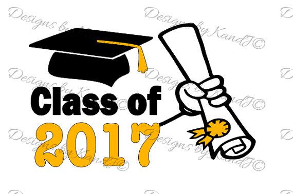 2017 clipart diploma. Graduation class of svg