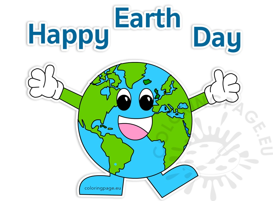 2017 clipart earth day. Happy coloring page