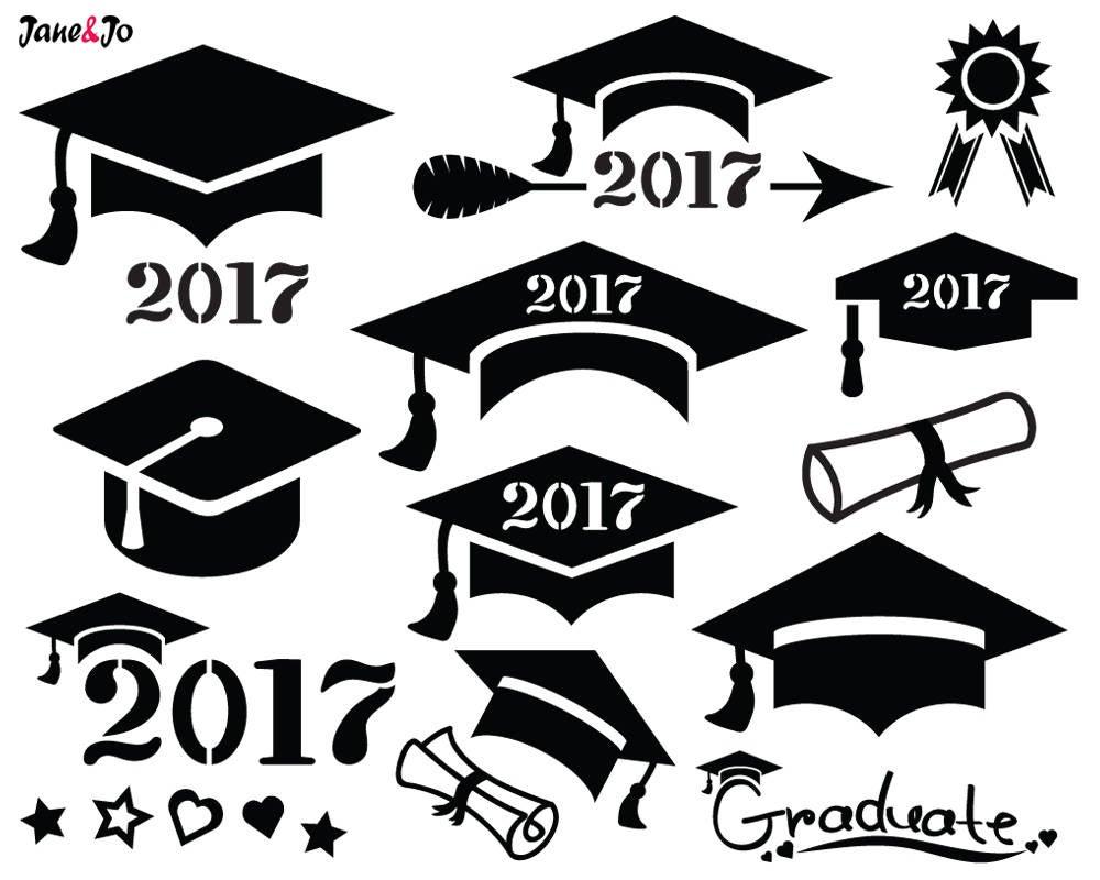 2017 clipart graduation hat. Svg cap cut file