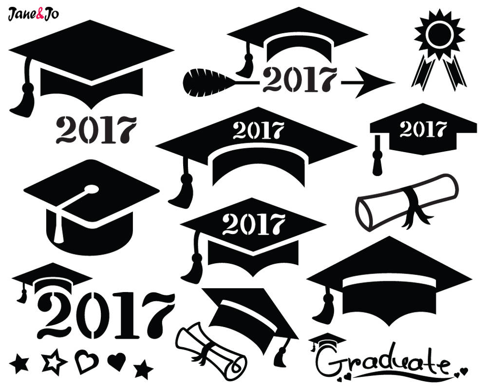 Svg cap cut file. 2017 clipart graduation hat
