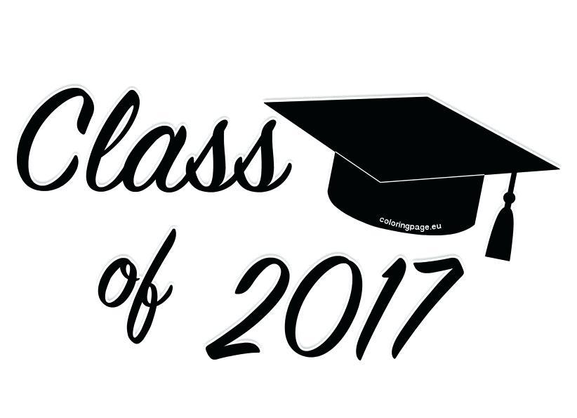 2017 clipart graduation hat. Cap coloring page owl