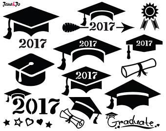 Clip art etsy studio. 2017 clipart graduation hat