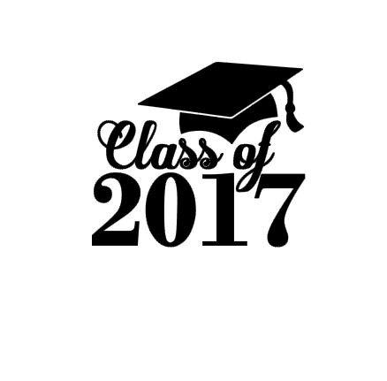2017 clipart graduation hat. Class of instant download