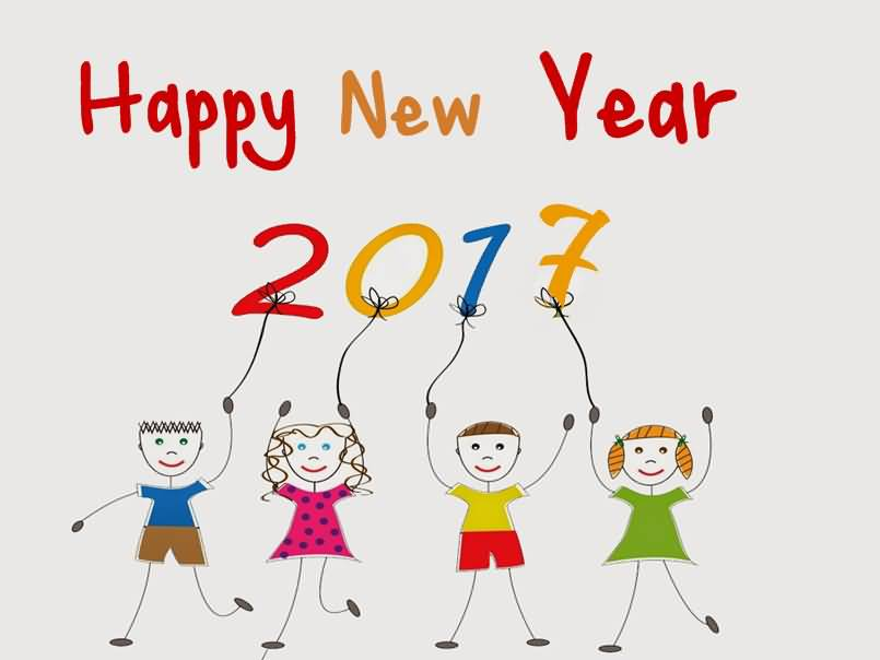 2017 clipart happy. New year kids