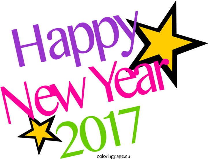 New year x collection. 2017 clipart happy