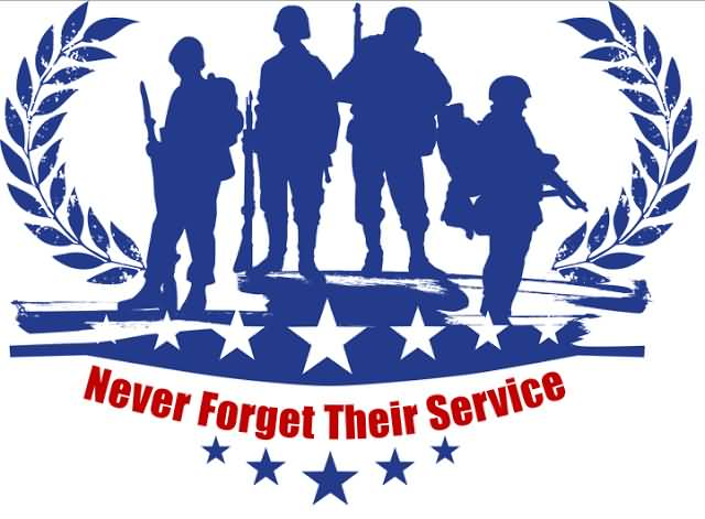 Never forget their service. 2017 clipart memorial day