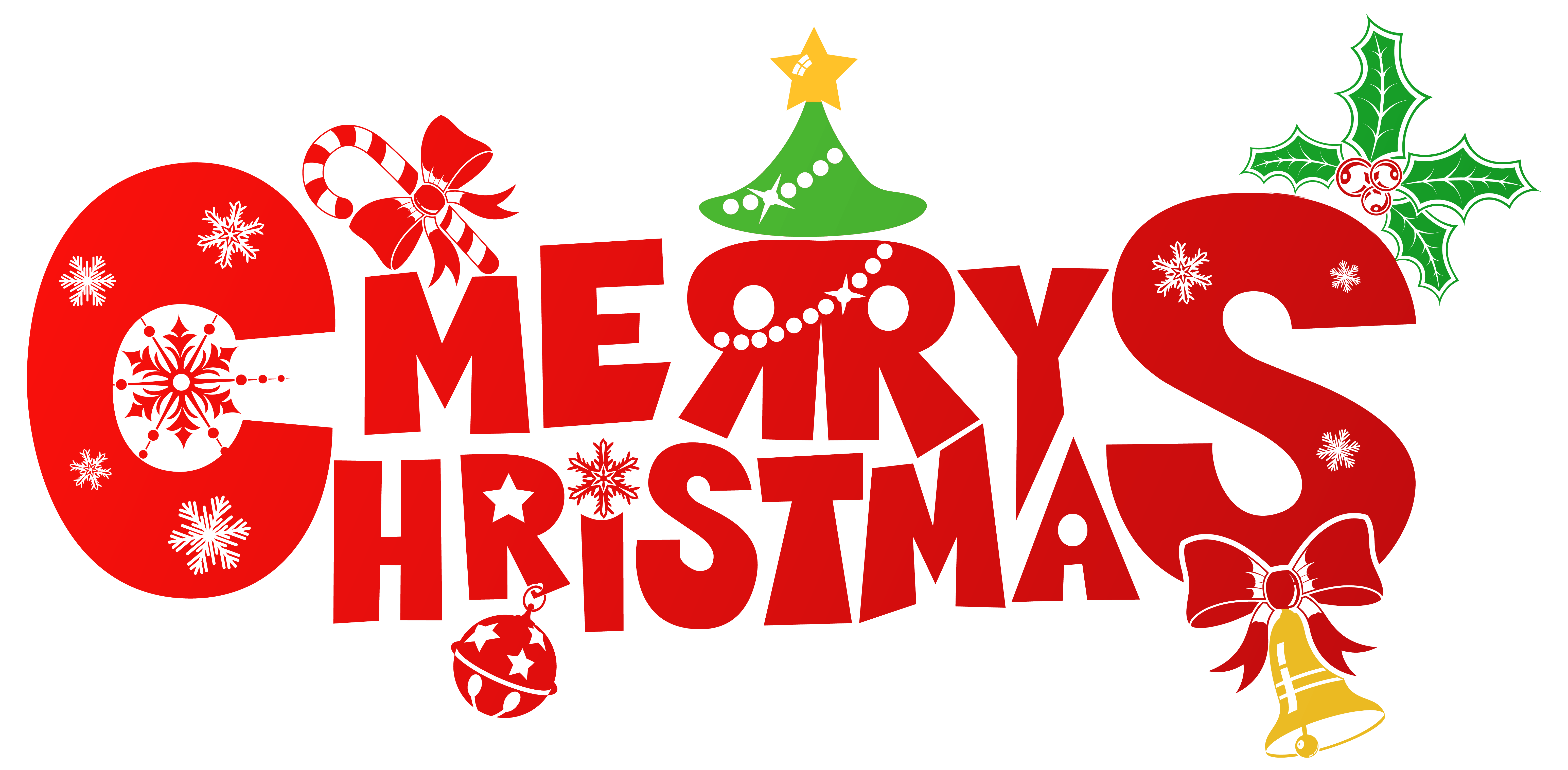 Red merry christmas png. Holly clipart small