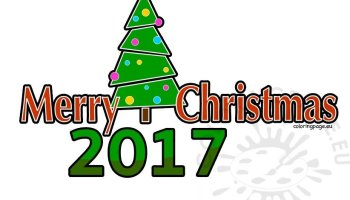 2017 clipart merry christmas. Coloring page