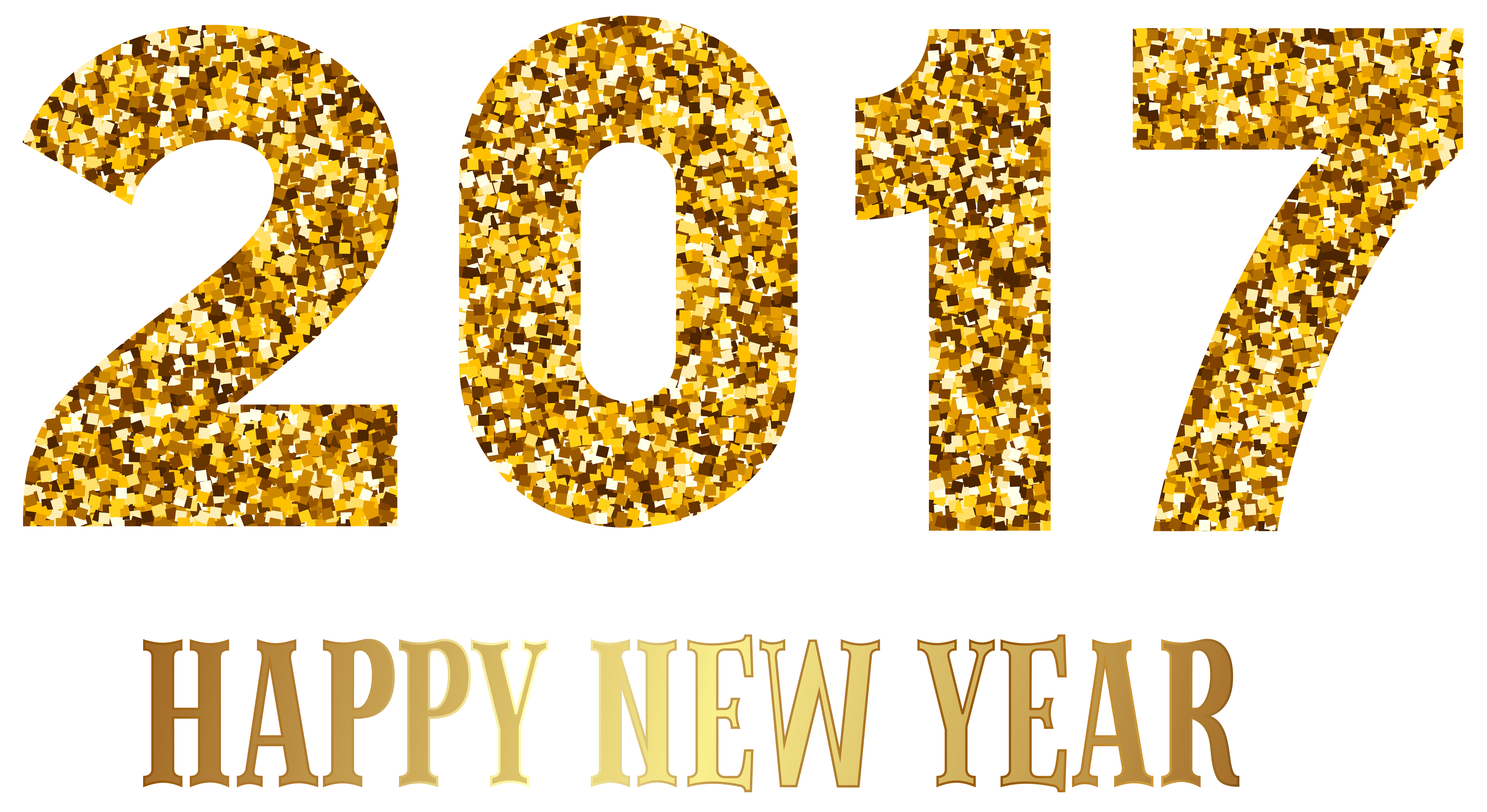happy year transparent. 2017 clipart new year's