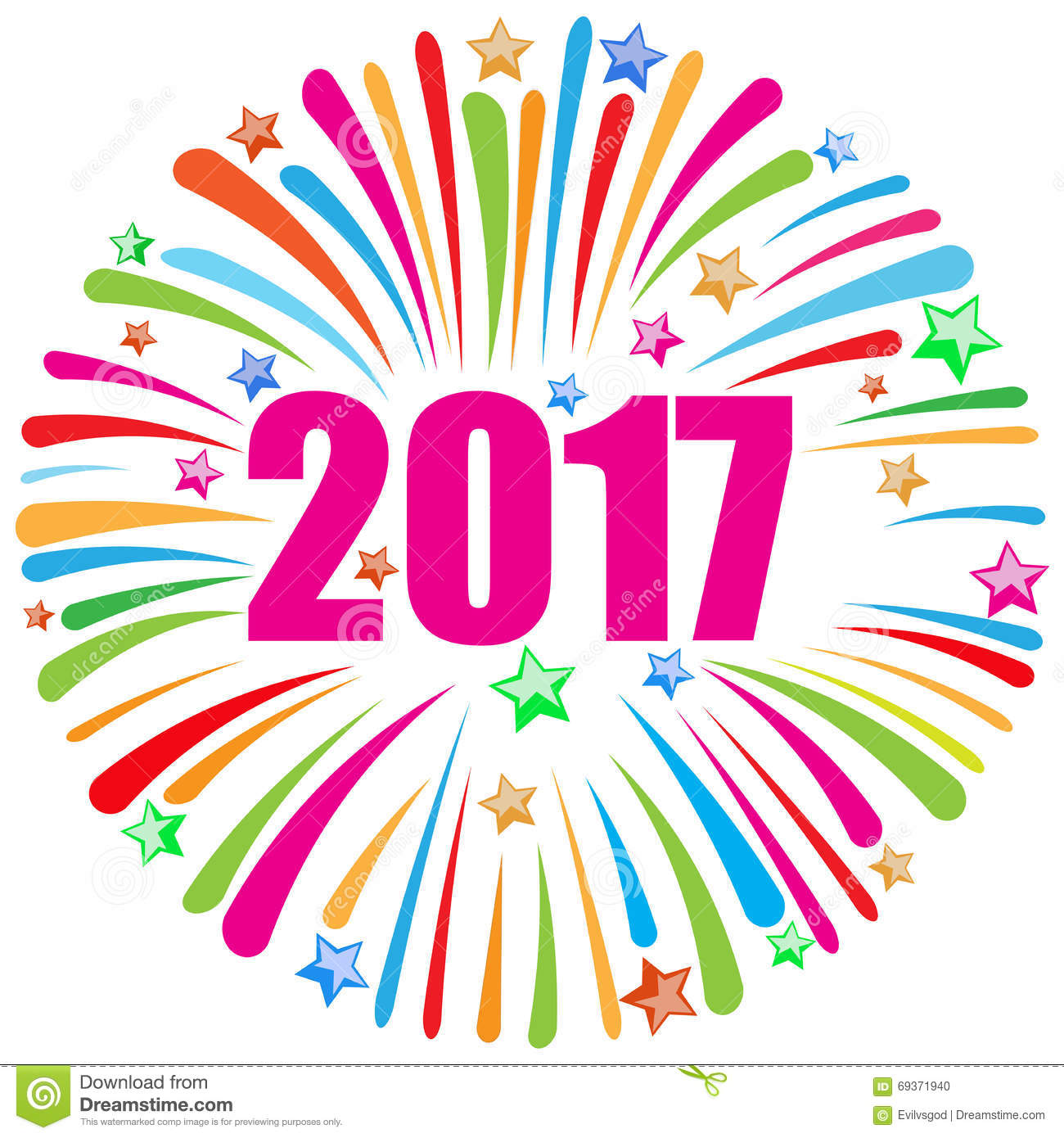 Happy year station . 2017 clipart new years day