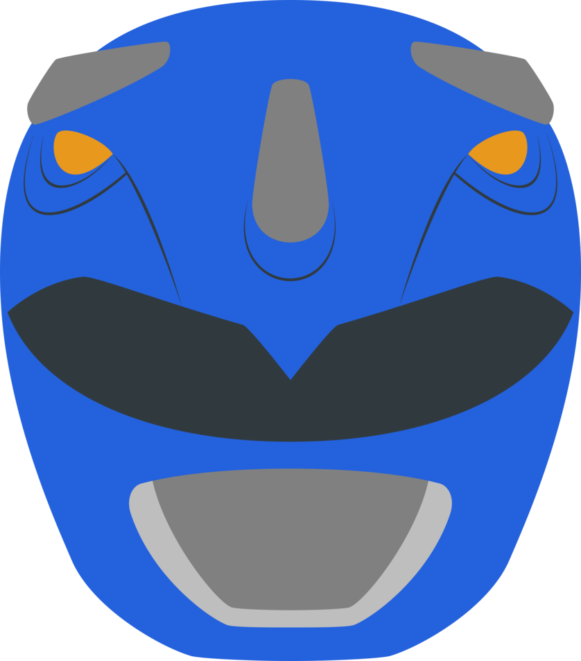 Blue rangers helmet minimalism. 2017 clipart power ranger