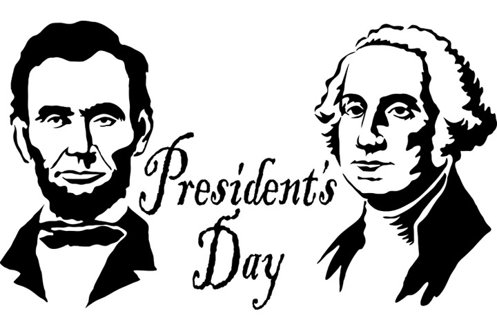George washington and abraham. 2017 clipart presidents day