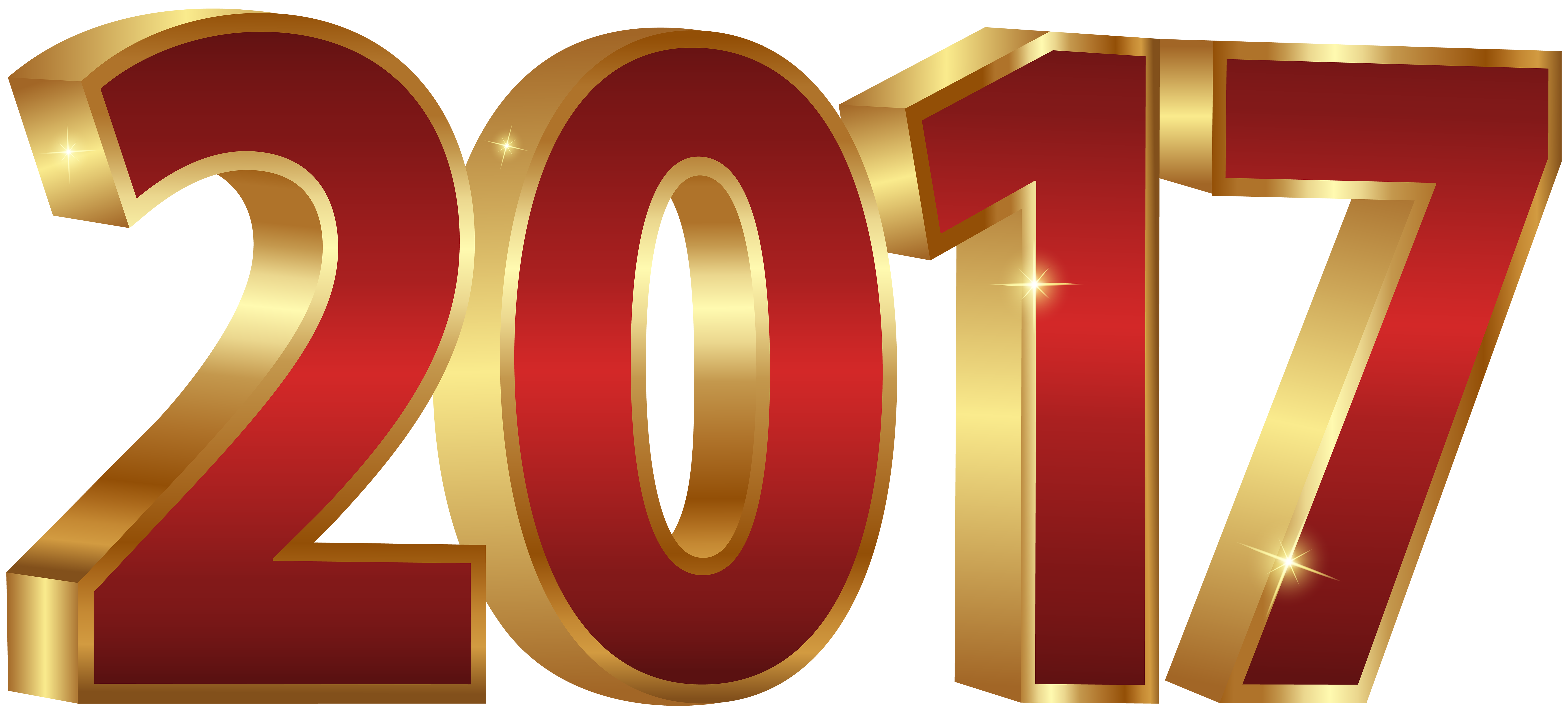 2017 clipart red.  and gold png