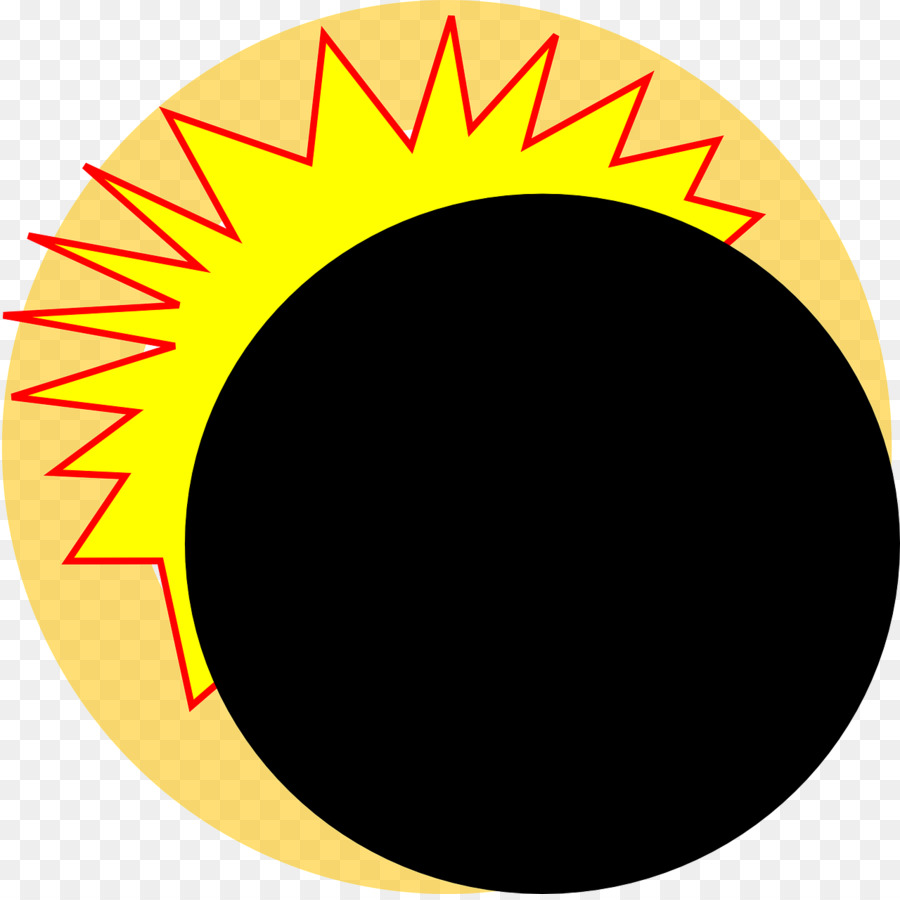 2017 clipart solar eclipse. Yellow circle png download