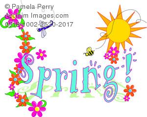 Clip art illustration of. 2017 clipart spring