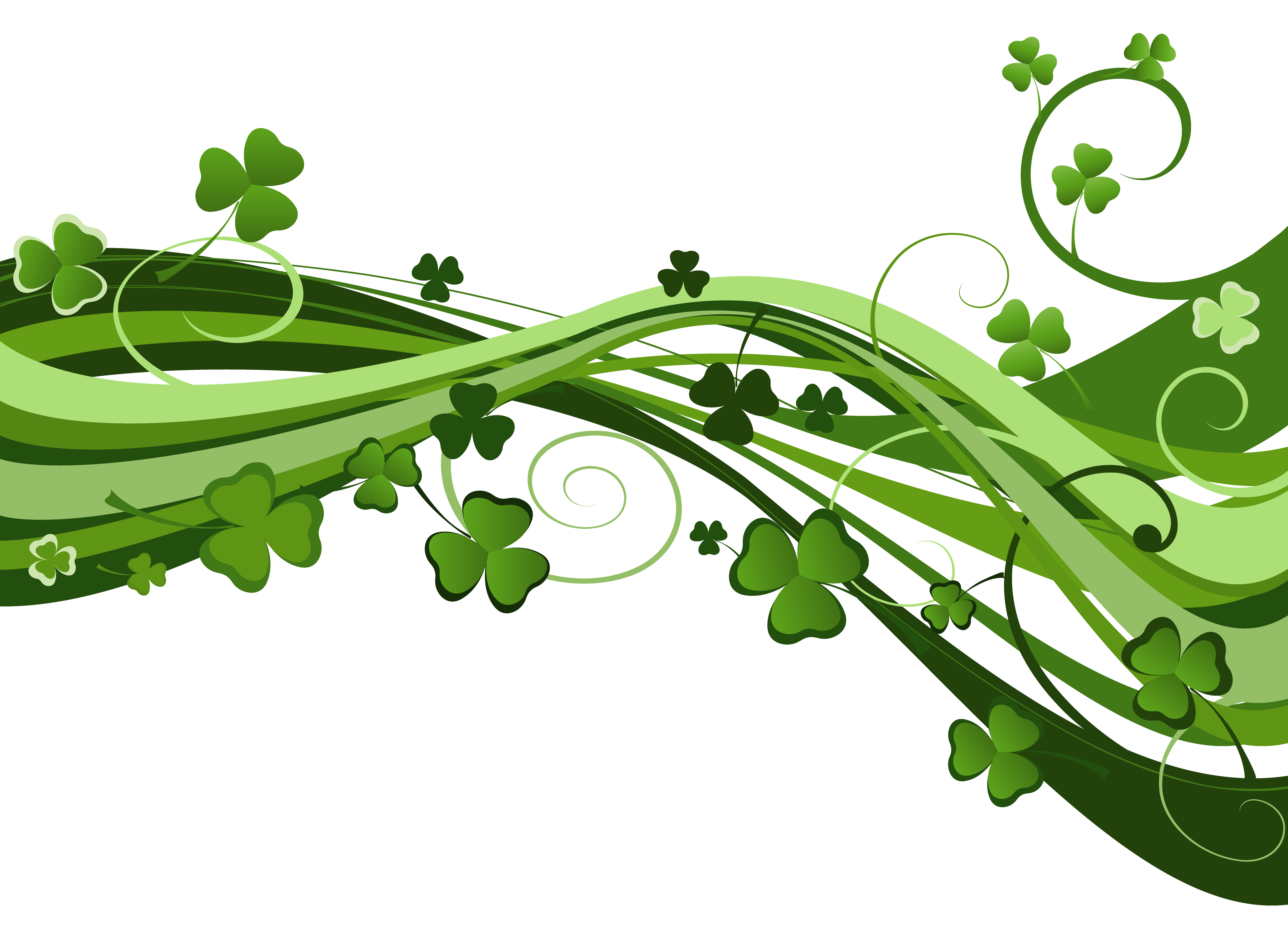 Clover clipart border. Download saint patricks day