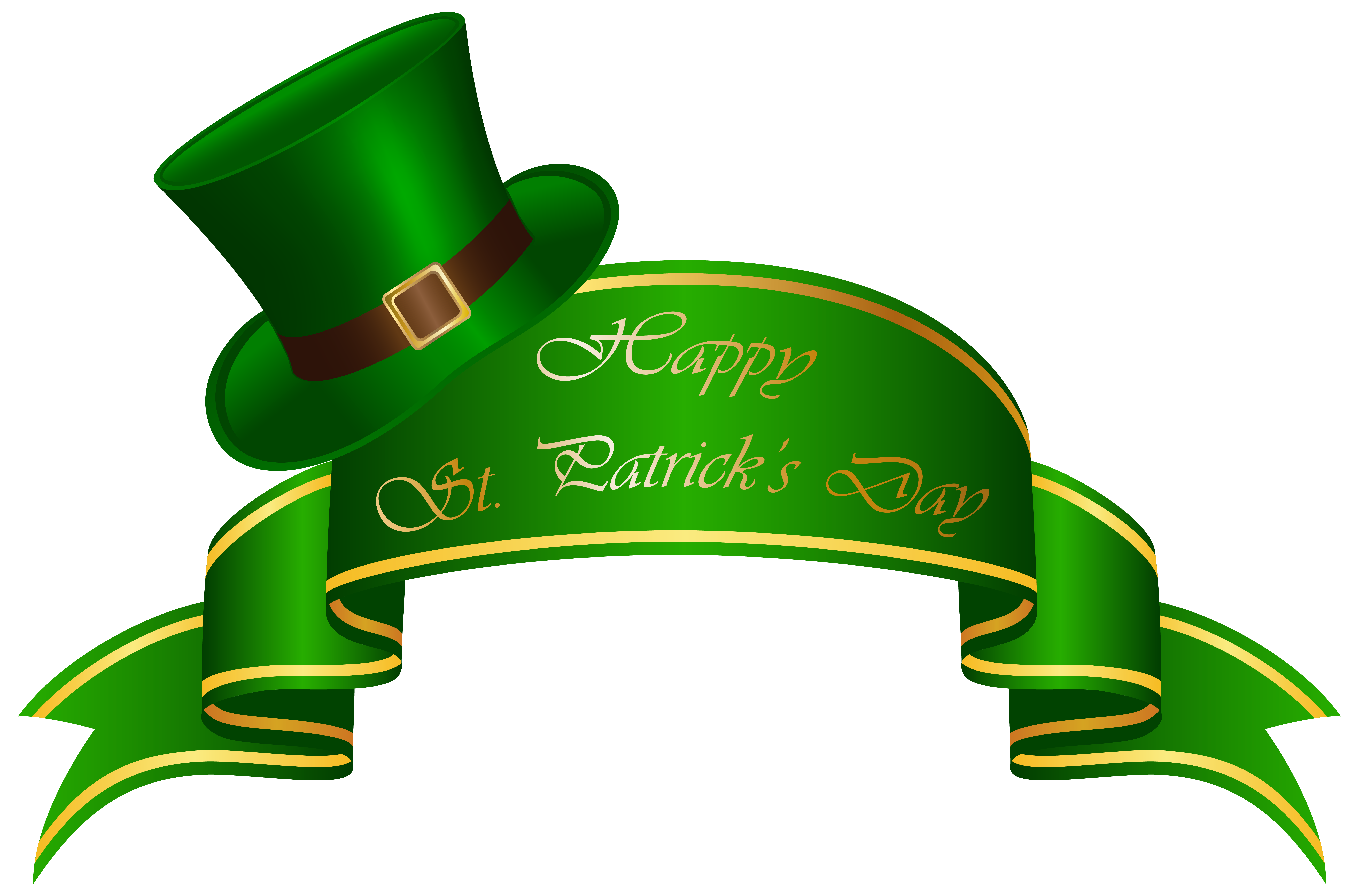 Patricks banner and hat. 2017 clipart st patrick's day