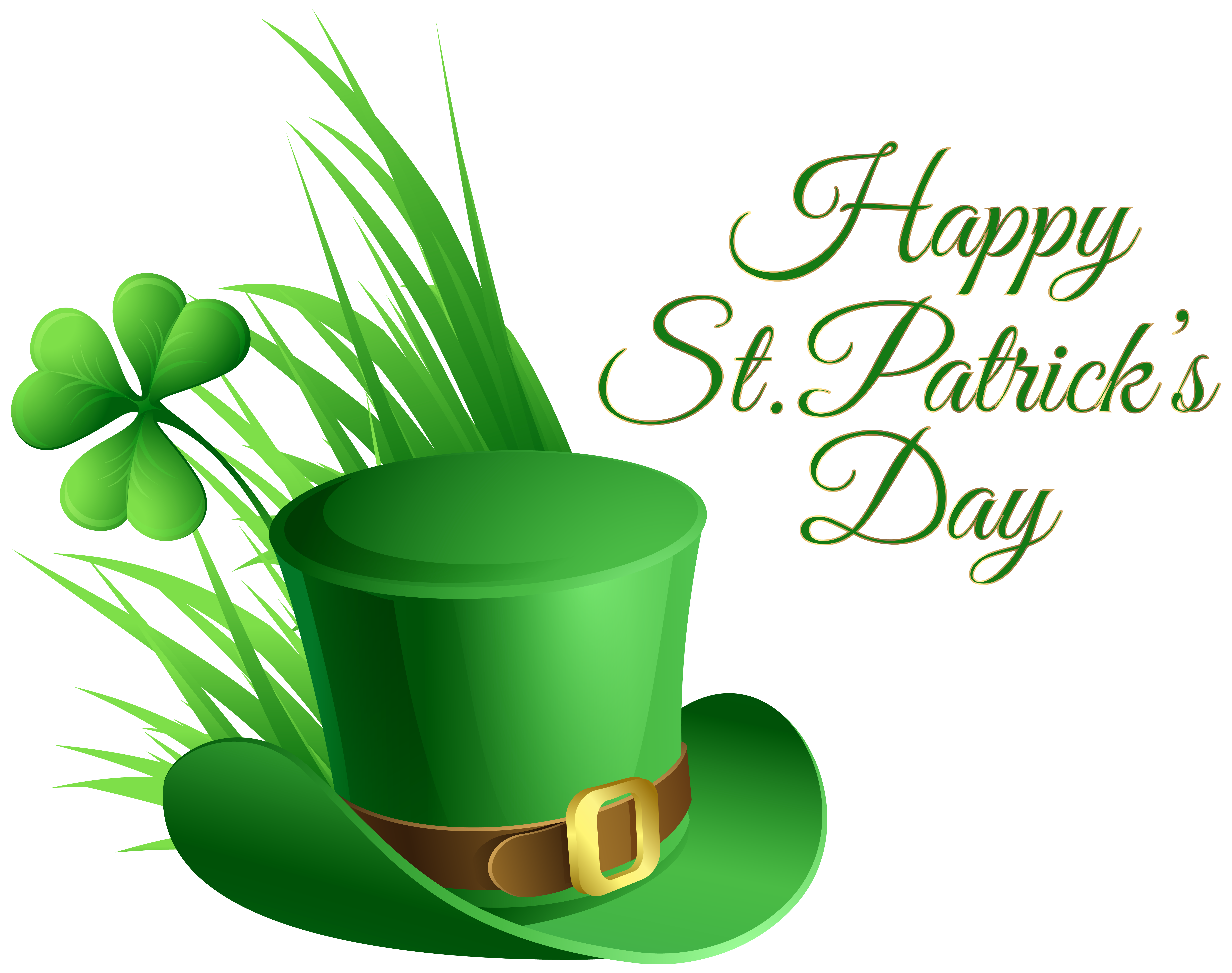 Clipart free st patricks day. Hat and shamrock transparent