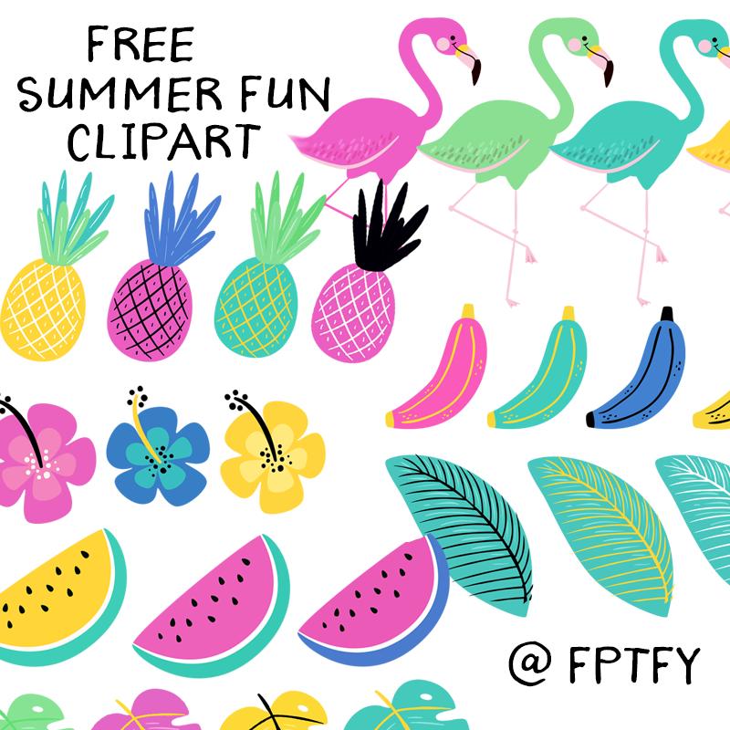 Free fun pretty things. 2017 clipart summer
