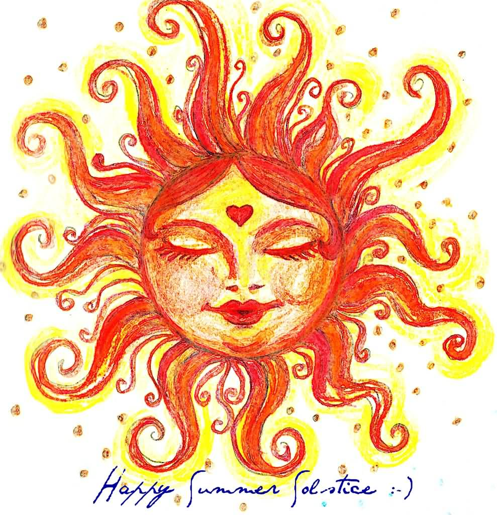2017 clipart summer solstice. Happy sun painting