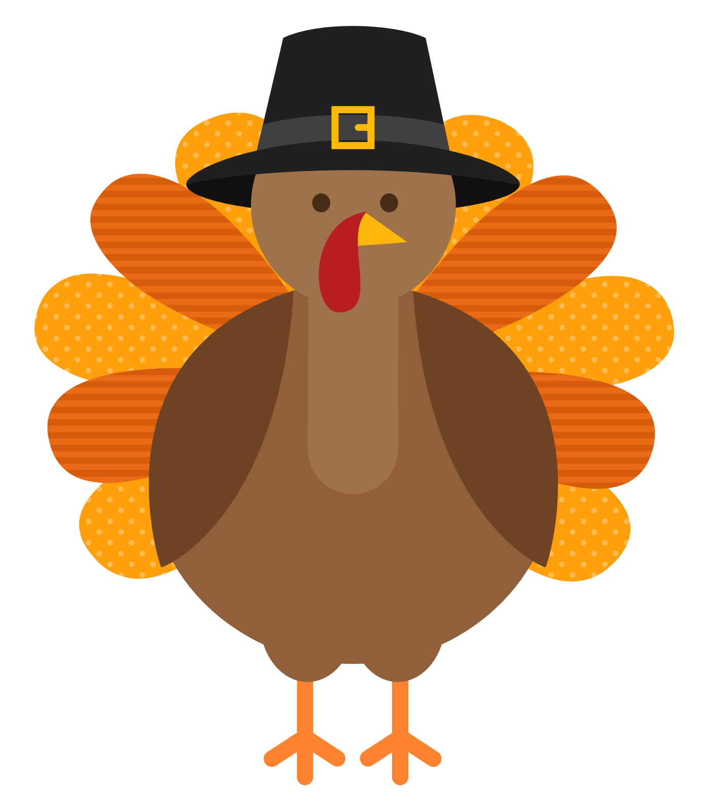 Thanksgiving dinner rainbow trail. Clipart turkey shoe