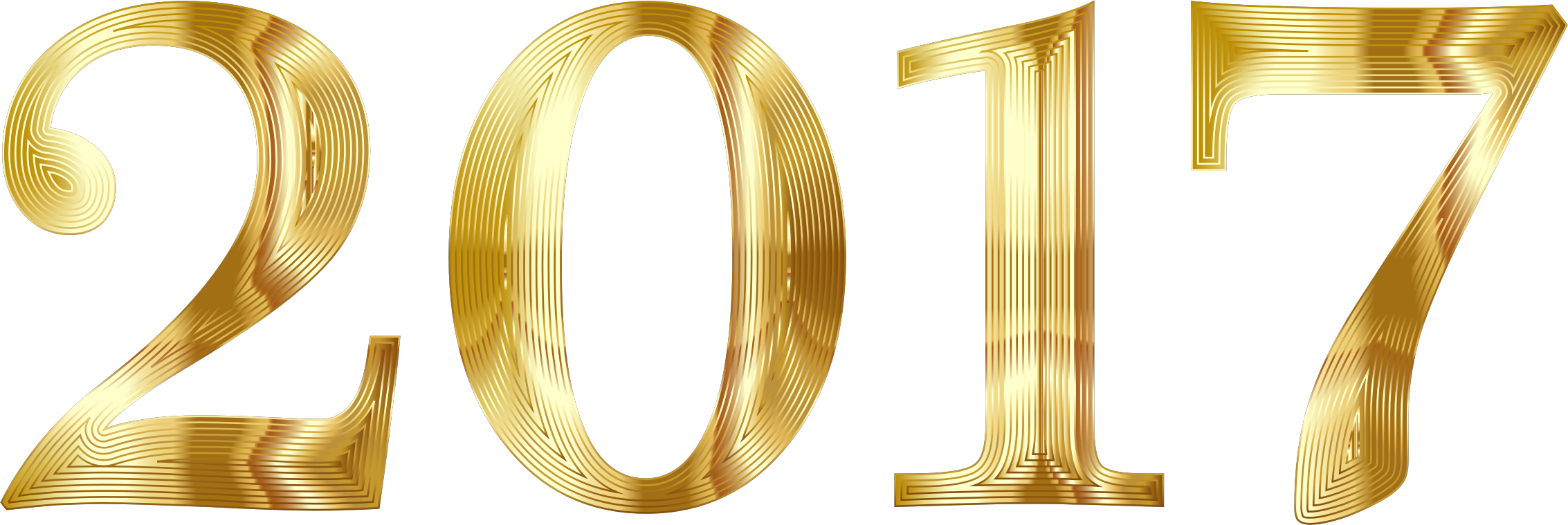 2017 clipart transparent background. Gold typography no icons