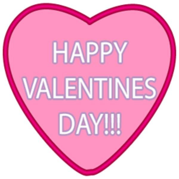2017 clipart valentine's day. Happy valentine s pink