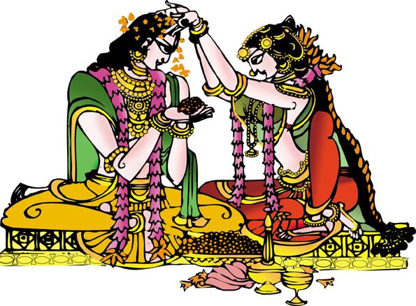 Bridal clipart hindu. Indian wedding colour station
