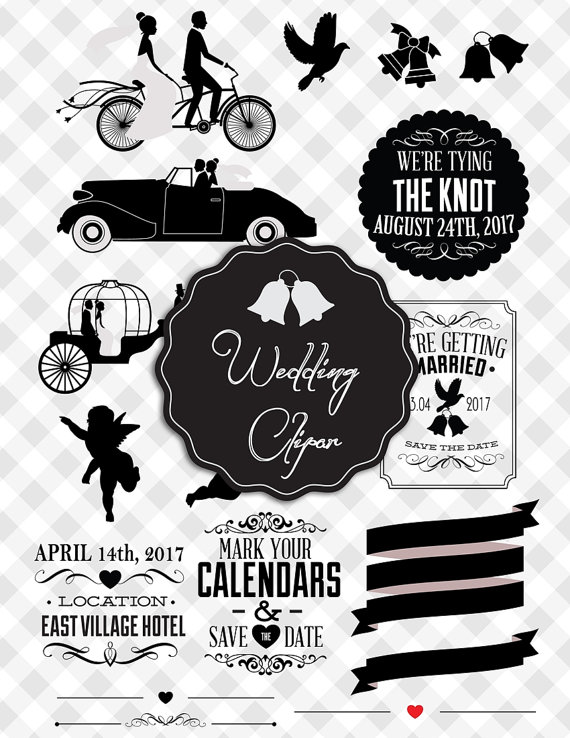 2017 clipart wedding. Save the date clip