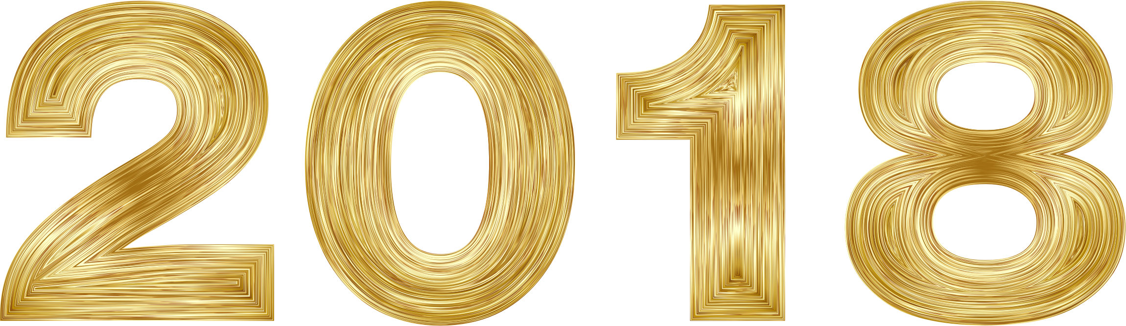 2018 clipart. Gold big image png