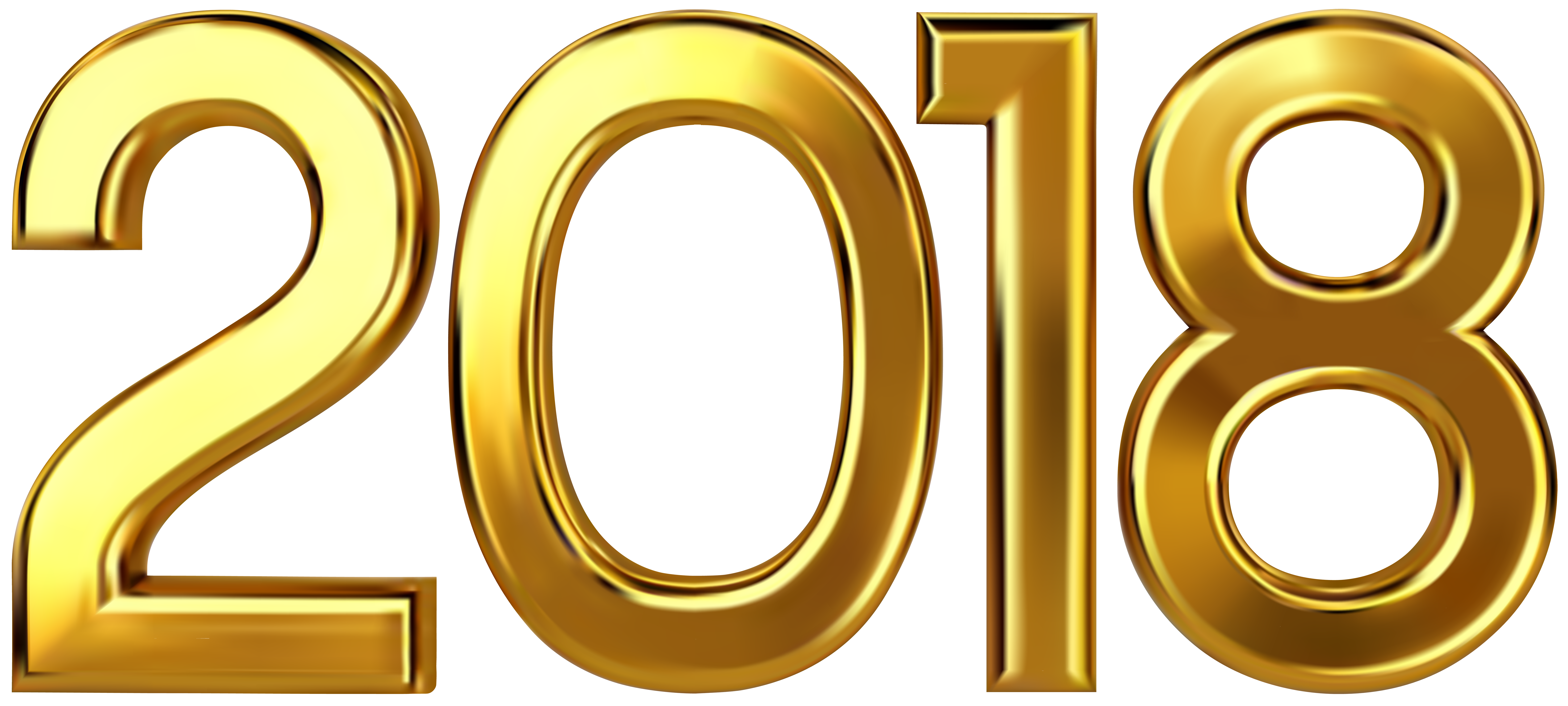 2018 clipart.  gold clip art