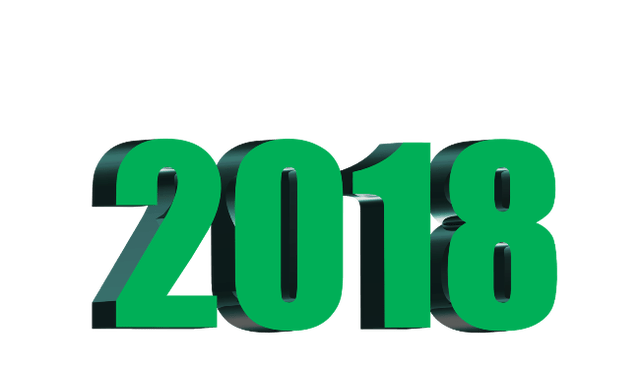 Happy new year for. 2018 clipart animated