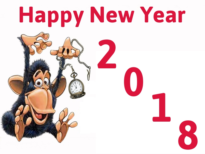 New year . 2018 clipart animated