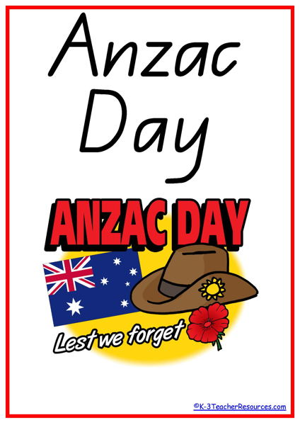 2018 clipart anzac day.  vocabulary words