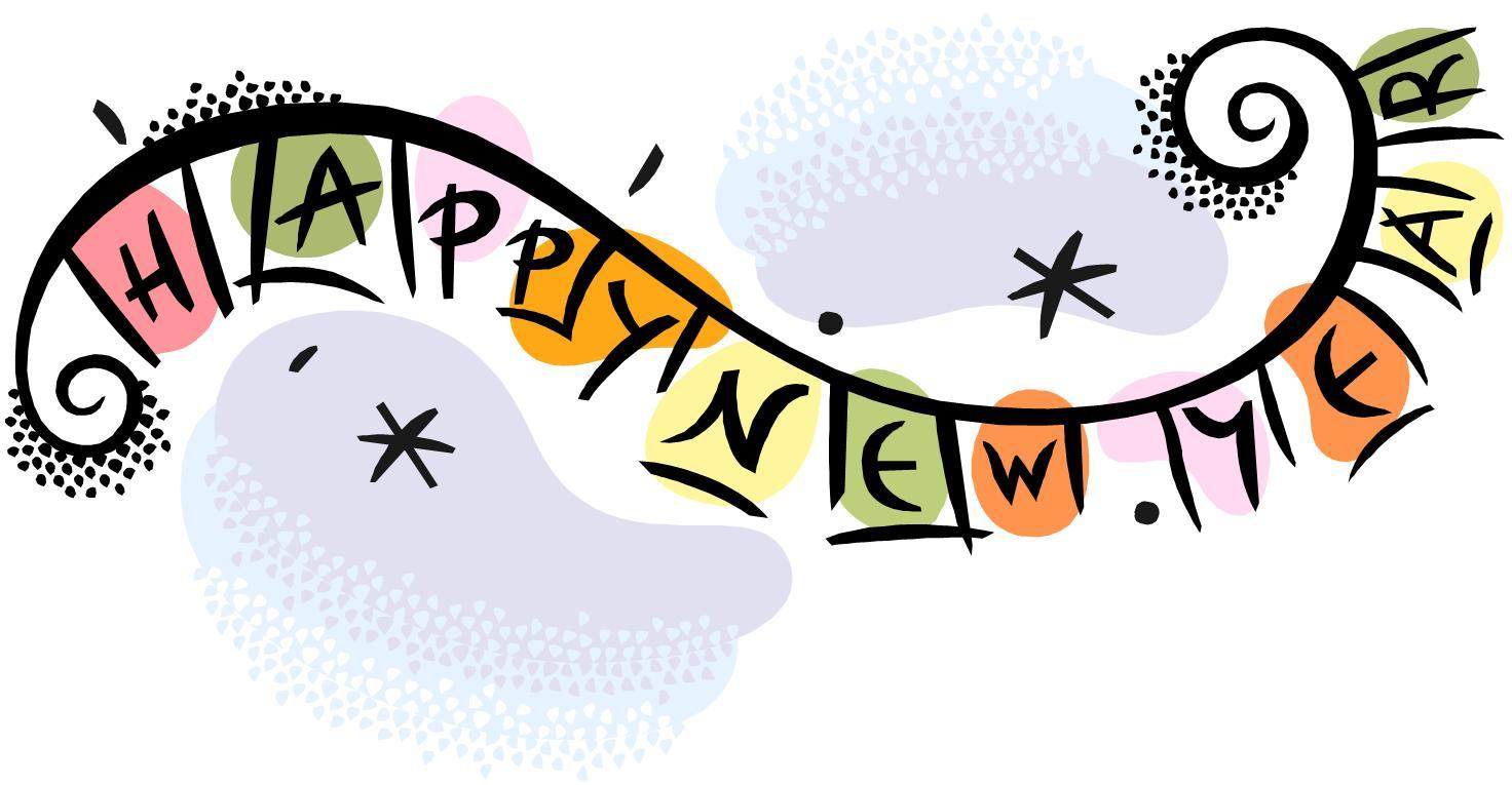 Happy new year wish. 2018 clipart banner