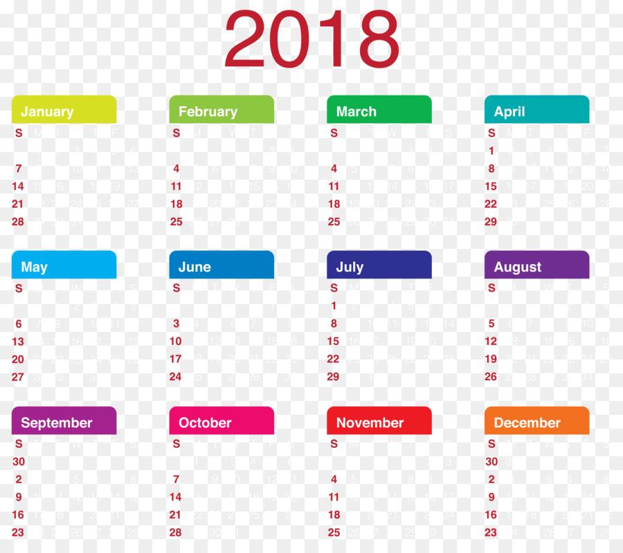 2018 clipart calender. Calendar clip art transparent