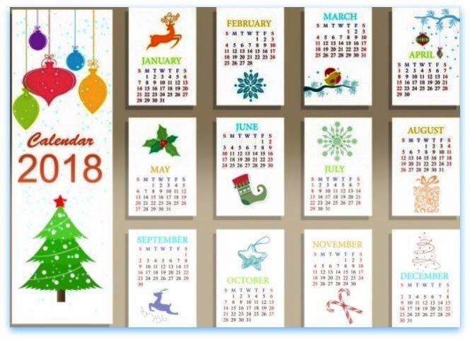 2018 clipart calender. Free calendar printable calendars