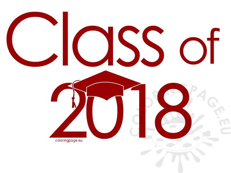 2018 clipart class. Of red coloring page