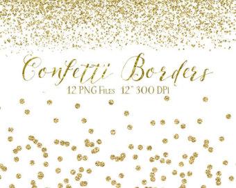 Silver borders glitter digital. 2018 clipart confetti