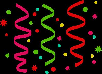 Streamers clipart colored ribbon. Free confetti cliparts download