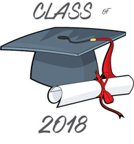 2018 clipart diploma. Graduate class of cap