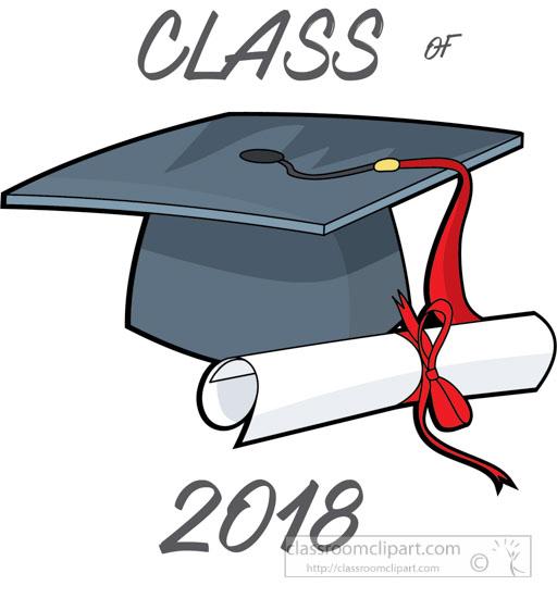Graduation graduate class of. 2018 clipart diploma